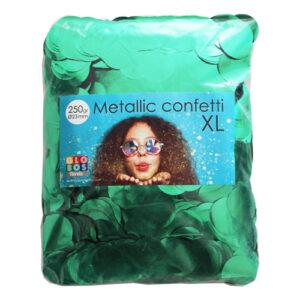 Konfetti Stora Grön Metallic - 250 gram