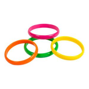 80-tals Armband Neonfärgade - 4-pack