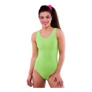 80-tals Bodysuit Neongrön - Medium/Large