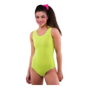 80-tals Bodysuit Neongul - Medium/Large