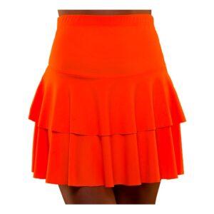 80-tals Neon Volangkjol Orange - Medium/Large