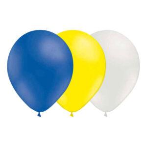 Ballongkombo Blå/Gul/Vit - 15-pack