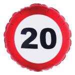 Folieballong Trafikskylt 20