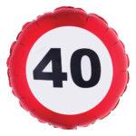 Folieballong Trafikskylt 40