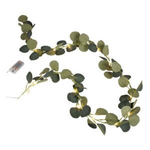 Girlang Eucalyptus med LED-ljus