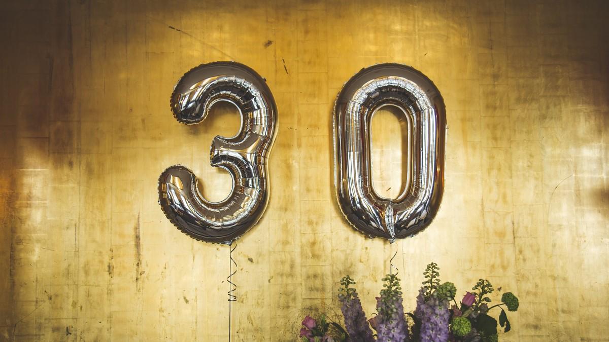 30 årsfest-ballonger