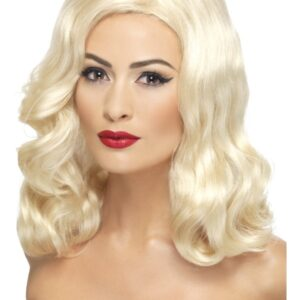 20-tals Blond Peruk