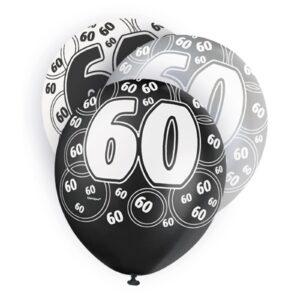 Ballonger Svart 60 år