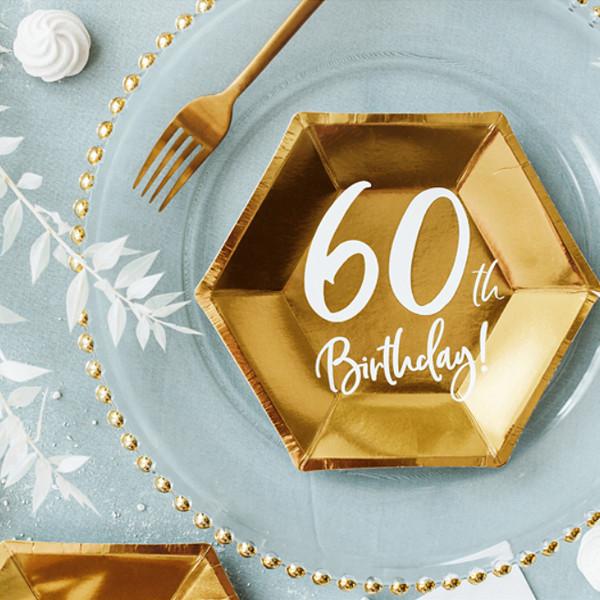 Pappersassietter 60 år Guld