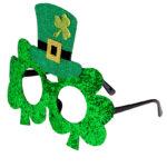 St Patricks Day Glittriga glasögon
