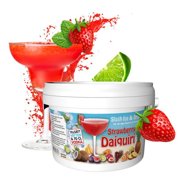 Slush Ice & Drinkbål - Strawberry Daiquiri