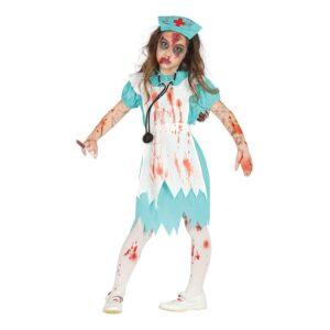 Zombiesköterska Barn Maskeraddräkt - Small