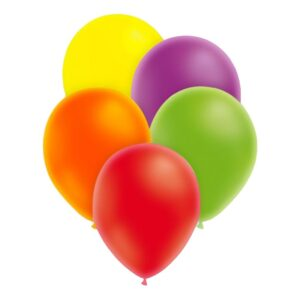 Ballonger Neon Flerfärgade - 100-pack Blandade