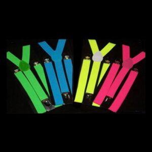 UV Neon Hängslen - Grön
